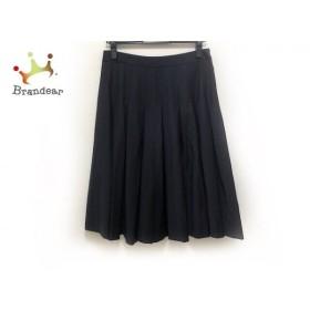 セオリーリュクス theory luxe スカート サイズ40 M レディース 美品 - - 黒 ひざ丈/プリーツ 新着 20190920