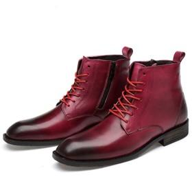 [イグル] ブーツ マーティンブーツ メンズ おしゃれ かっこいい 超軽量 男性 カジュアルブーツ 柔らかい ワインレッド 防撞 滑り止め 遠足 クラシック 通勤 通学 上品 疲れない 24.0cm スポーツ マウンテンブーツ ワークブーツ 作業靴 紳士靴
