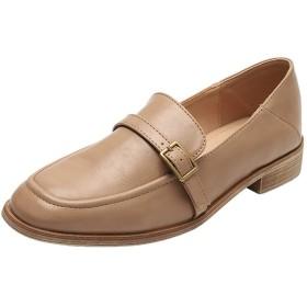 [ASPLOU] ローファー レディース 軽量 合皮 学生 女子 おしゃれ ブラット ヒールフラットシューズ 靴 通学 通勤 カジュアル ビジネス