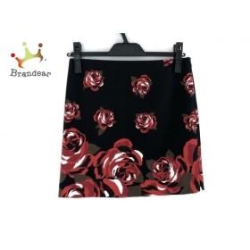 ピンキー&ダイアン Pinky&Dianne ミニスカート サイズ36 S レディース 黒×レッド 花柄  値下げ 20191128
