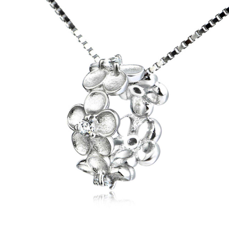 CS-DB Pendants Necklaces Silver Black /& White Crystal Lucky Fox Pattern Girls
