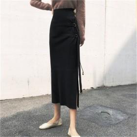 【雑誌で紹介されました★限定価格】個性的なデザイン 中・長セクション ニットスカート 美しい 着やせ効果抜群 大人の魅力高まる★体型カバー スカート