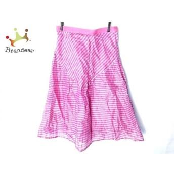 ロッサ ROSSA ロングスカート サイズ42 L レディース ピンク×白×グリーン チェック柄   スペシャル特価 20191228