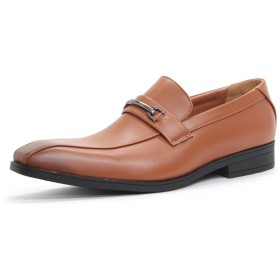 [サンエープラス] 2707 ビジネスシューズ メンズ キングサイズ ロングノーズ 革靴 (26.5, キャメル)