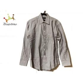 グッチ GUCCI 長袖シャツ サイズ3915  1/2 メンズ 美品 白×ネイビー 新着 20190920