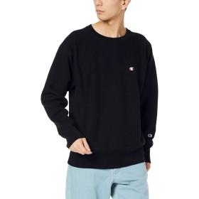 [チャンピオン] リバースウィーブ クルーネックスウェットシャツ C3-Q017 メンズ ブラック 日本 XL (日本サイズXL相当)