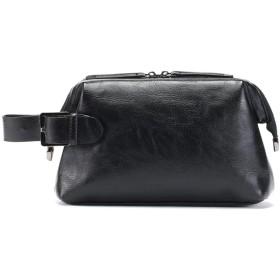 JpGdnメンズセカンドバッククラッチバック ウォレットビジネスバック 男性ポーチ 財布 レザー鞄 手持ちバック 防水 大容量 スマホ 収納 カジュアル おしゃれ