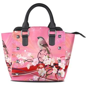 カラフルな夏の葉クロスボディバッグレザーハンドバッグサッチェル財布メイクアップトートバッグ女性用女の子