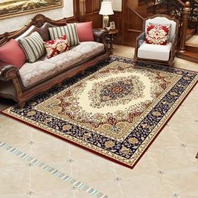 Sktopes カーペット ライト寝室 カーペット 色 風水 120X160cm ペルシャ様式の古典的な印刷および染色の居間のソファーの研究毛布寝室のベッドサイドの滑り止めのカーペットの床のマットペルシア語スタイル材料ペルシア語スタイル