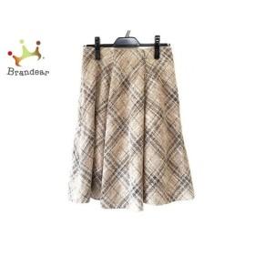 ジユウク 自由区/jiyuku スカート サイズ38 M レディース ブラウン×黒 ツイード/チェック柄  値下げ 20191208