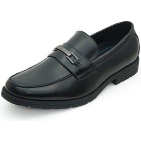 [アシスタント] ビジネスシューズ 通気性 蒸れにくい メンズ 幅広 4E EEEE 軽量 衝撃吸収 紳士靴 (29.0cm, ビットローファー)