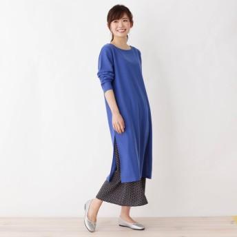 3can4on(Ladies)(サンカンシオン:レディース)/【洗える】【SET】スリットワンピース×プリントスカートセット