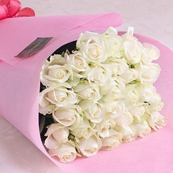 全5色から選べるバラの花束30本 バラギフト専門店マミーローズの豪華なバラの花束(生花) (白) バレンタイン