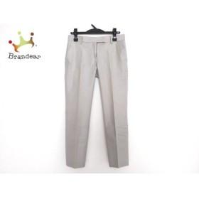 トゥモローランド TOMORROWLAND パンツ サイズ36 S レディース 美品 ライトグレー ラメ オススメ 20191011