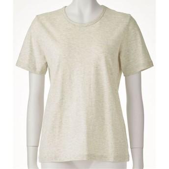 【レディース】 型崩れしにくいSZTシャツ 半袖 - セシール ■カラー:ナチュラル(杢) ■サイズ:M,LL,3L