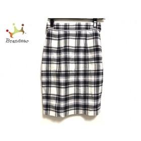 アプワイザーリッシェ スカート サイズ0 XS レディース 美品 白×黒×マルチ チェック柄 新着 20190920