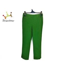 シビラ パンツ サイズM レディース グリーン ストレッチ素材/バックファスナー/裾スリット 新着 20190920
