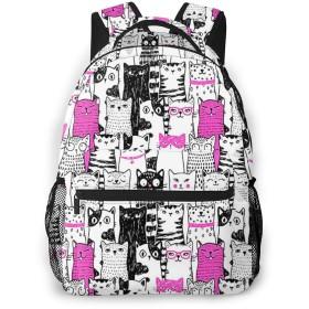 リュック バック かわいい猫5, リュックサック ビジネスリュック メンズ レディース カジュアル 男女兼用大容量 通学 旅行 鞄 カバン