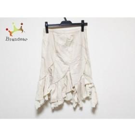 グレースコンチネンタル スカート サイズ38 M レディース 美品 ベージュ 裾切りっぱなし  値下げ 20191208