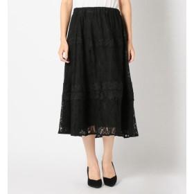 【ミューズ リファインド クローズ/MEW'S REFINED CLOTHES】 レースオンレースフレアスカート
