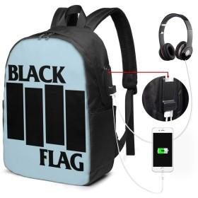 パンク バンド リュックサック 17インチ バックパック 通勤 通学ビジネスバッグ USBポート付き レインカバー付き 盗難防止 アウトドア 高校生 大学生 男女兼用 新品 17x 12 X 6.5in