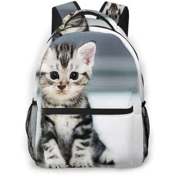 リュック バック 愛らしい子猫1, リュックサック ビジネスリュック メンズ レディース カジュアル 男女兼用大容量 通学 旅行 鞄 カバン