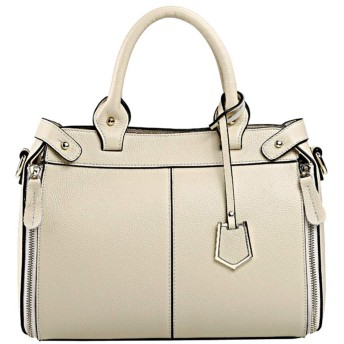 YIYUTING ハンドバッグレディースシンプル雰囲気シェルトートバッグ通勤カジュアルショルダー斜め掛けハンドバッグ (色 : Creamy-white)