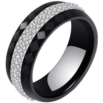 Vi.yo リング 指輪 セラミック ファション メンズ レディース カップル アクセサリー ジュエリー プレゼント 日本サイズ14号