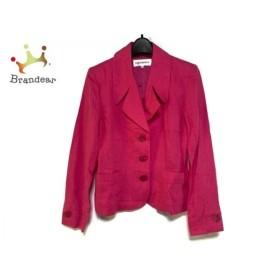 イヴサンローラン YvesSaintLaurent ジャケット サイズ34 S レディース 美品 ピンク 肩パッド 新着 20190920