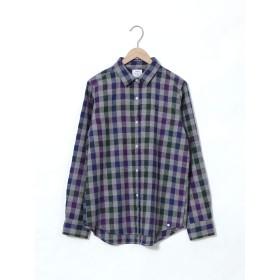 (コーエン) COEN ウィンターリネンチェックシャツ 76106049050 6970 DK.GREEN(69) LARGE