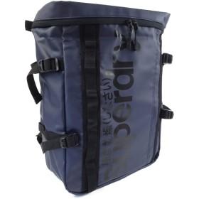 新品 極度乾燥しなさい リュック ミニ スクエア バッグ 極度乾燥 ボックスバッグ メンズ ロゴ (ネイビー×ブラックロゴ)sd707m [並行輸入品]