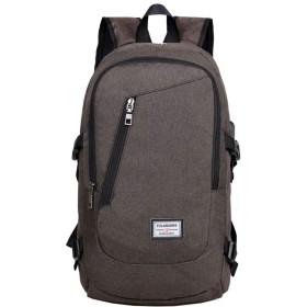 厚手のウェアラブルキャンバスハンドバッグ二重層ショルダーバッグ防水ラップトップバッグ (Color : Coffee, Size : 291549cm)