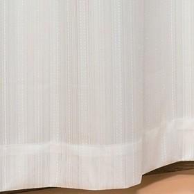 カーテンチアフル オーダーレースカーテン ストライプ (ミラー/防炎/形態安定加工付):幅80cm×丈92cm 1枚入