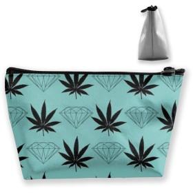 Makeup Bag - Super Funny 3D Printing Women Cosmetic Bag Multifuncition Pencil Holder (Marijuana Weed)