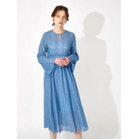 マウジー LACE FLARE LONG ドレス レディース L/BLU1 1 【MOUSSY】