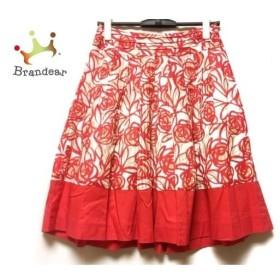 エムズグレイシー M'S GRACY スカート サイズ38 M レディース レッド×白×ベージュ 花柄 新着 20190920