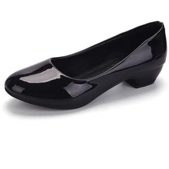 パンプス 太ヒール レデース ブラック ピンク 歩きやすい ママシューズ 婦人用 結婚式 フォーマル 冠婚葬祭 痛くない 柔らかい リクルート