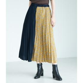 ROPE' PICNIC(ロペピクニック)/【WEB限定】フラワー切替プリーツスカート