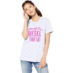 (ディーゼル) DIESEL レディース ディーゼル ロゴ 半そで Tシャツ 00SYVT0091A XS ホワイト 100