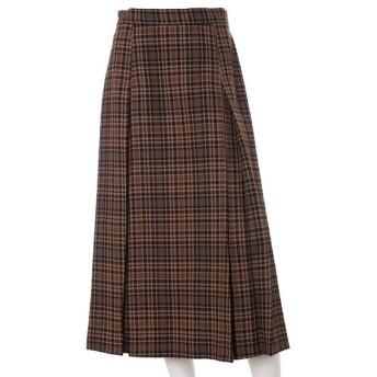 INED L / イネド(エルサイズ) 《大きいサイズ》チェック柄スカート