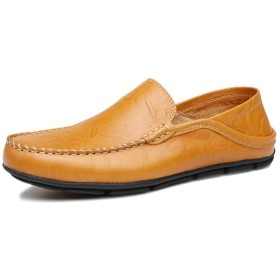 [lsjdln] メンズスニーカー スリッポン カジュアルシューズ フィット靴 26.5cm デッキシューズ オールシーズン スニーカー フォーマル ビジネス 紳士靴 ブラウン ドライビングシューズ メンズ ローファー ビター系 メンズ オールシーズン