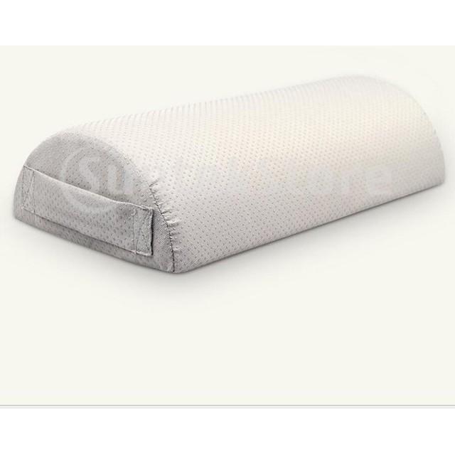 足枕 足置き クッション 腰枕 フットレスト 低反発 半円形 快適 灰色 2個