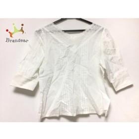 ロイスクレヨン Lois CRAYON 半袖シャツブラウス サイズM レディース 白 刺繍 新着 20190921