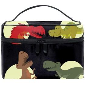化粧ポーチ 化粧品 収納 コスメポーチ レディース ポーチ 大容量 軽量 防水恐竜恐竜動物