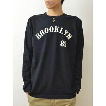 (ジーンズバグ)JEANSBUG 長袖 Tシャツ BROOKLYN オリジナル アメカジ プリント ロンT メンズ レディース 大きいサイズ LT-BROOK XXL クロ(2)