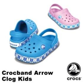【送料無料対象外】クロックス(CROCS) クロックバンド アロー クロッグ キッズ(crocband arrow clog kids)サンダル【子供用】[AA]【65】