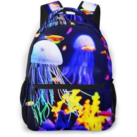 リュック バック 素晴らしいクラゲ, リュックサック ビジネスリュック メンズ レディース カジュアル 男女兼用大容量 通学 旅行 鞄 カバン