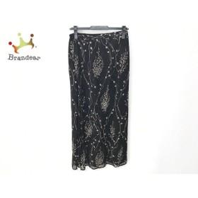 マックスマーラ Max Mara ロングスカート サイズ34 XS レディース 美品 黒×ベージュ シースルー 新着 20190920