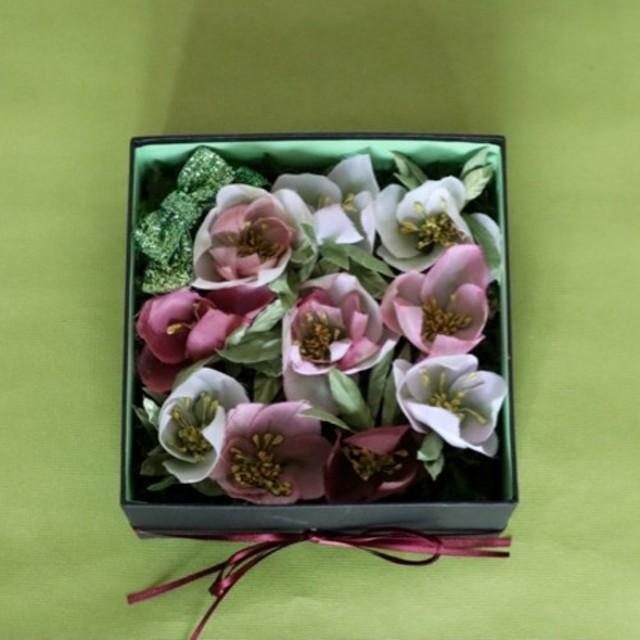 布花のFlower box クリスマスローズ M