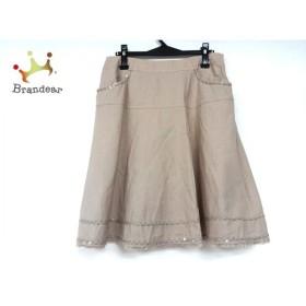 トゥービーシック スカート サイズ46 XL レディース 美品 ベージュ スパンコール/ラメ 新着 20190920